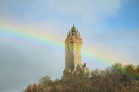 Clouds Scotland Wallace Monument Rainbow 20170320